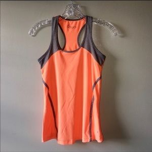 ❤️ Razorback Workout Tank VOGO Orange Gray Small
